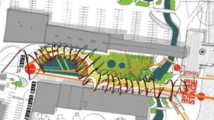 Skegness Esplanade concept sketch