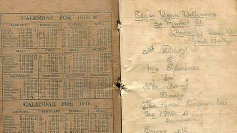 Edgar Wynn Williams' war diary