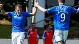 St Johnstone celebrate Stevie May's opening goal