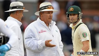 Tony Hill, Marais Erasmus and Michael Clarke