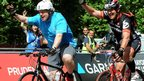 Boris Johnson in the bike ride