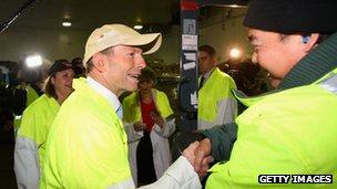Tony Abbott talks to employees at JBS on 5 August 2013 in Brisbane, Australia
