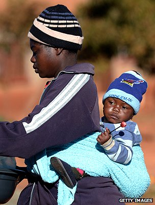 Zimbabwean mother and child