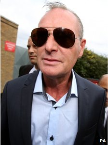 Paul Gascoigne at Stevenage Magistrates Court