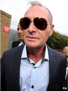Paul Gascoigne at Stevenage Magistrates Court