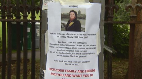 Poster on missing Lucia Piacentini