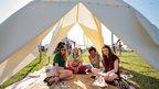Camp Bestival campers