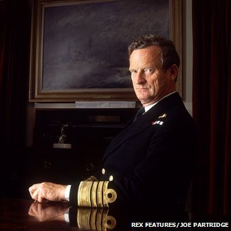 Admiral Sandy Woodward at his home in Wimbledon in 1992