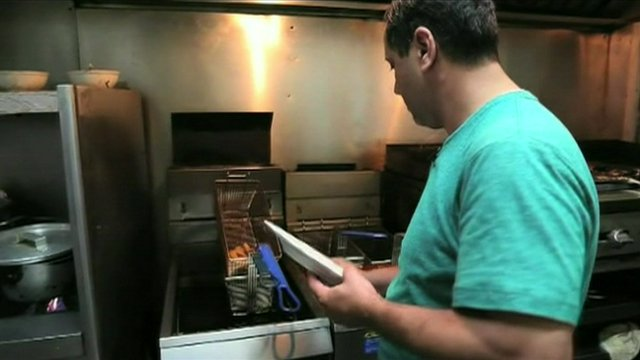 Egyptian working in a restaurant