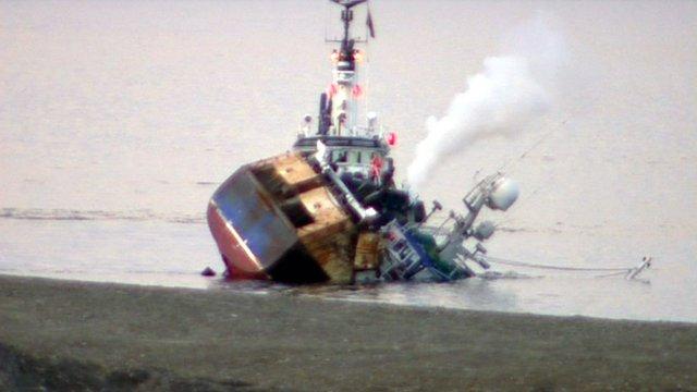 Boat sinks
