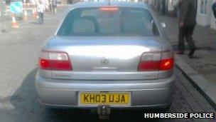 Silver getaway car
