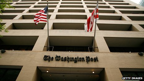 The Washington Post building in downtown Washington DC