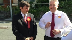 Tal Michael and Carwyn Jones