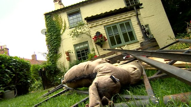 Cottage affected by flooding in Southwell