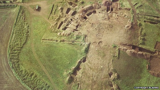 Broxmouth hill fort before it was destroyed