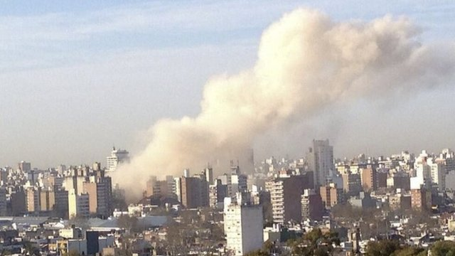 Blast at building in Rosario, Argentina