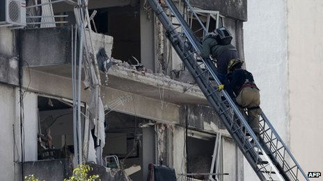Rosario building blast