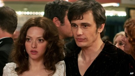 Amanda Seyfried and James Franco in Lovelace
