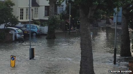 Herne Hill burst water main