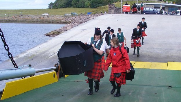 Opening of Raasay's new Churchton Bay terminal