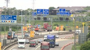 M4 and M5 Almondsbury interchange roadworks