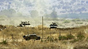 File photo - Israeli troops on border