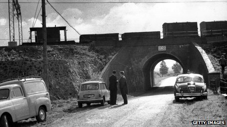 The scene of the Great Train Robbery at Bridego Bridge