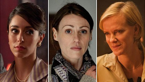 Oona Chaplin, Suranne Jones and Hermione Norris
