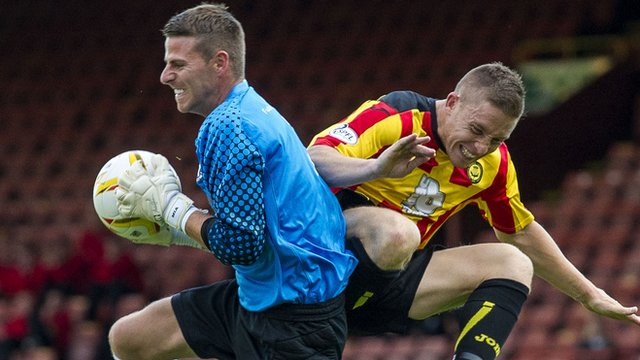 Partick Thistle beat Ayr United 2-1 to reach the second round of the League Cup
