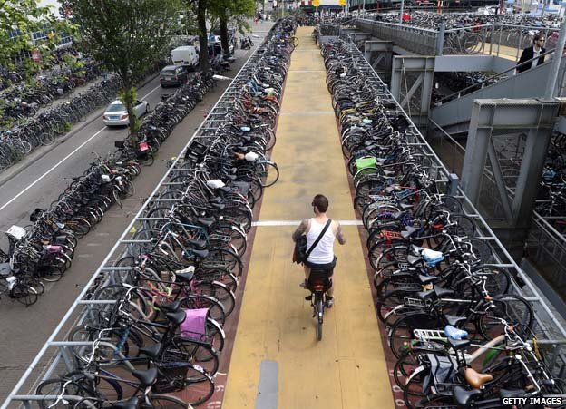 Bike park at Amsterdam central station