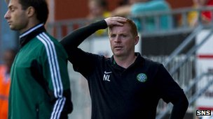 Manager Neil Lennon had a few nervous moments at the Boras Arena