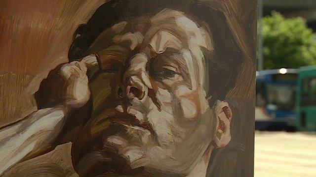A Lucien Freud self-portrait