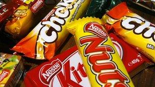 Nestle chocs