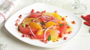 Citrus and pomegranate salad