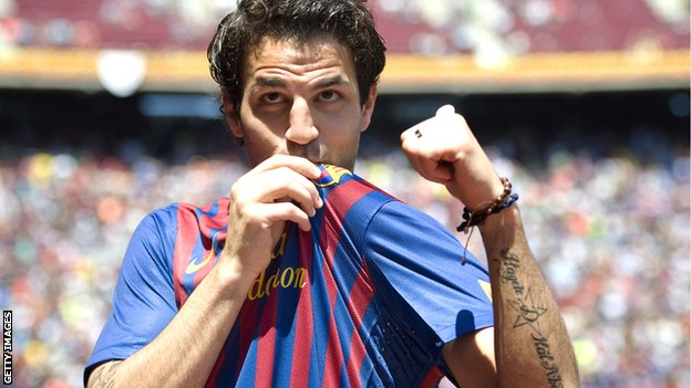 Cesc Fabregas rejoined Barcelona in 2011