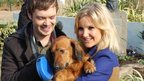 Barney Harwood and Helen Skelton