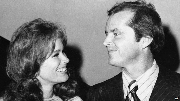 Karen Black and Jack Nicholson at New York's Philharmonic Hall for the premiere of Five Easy Pieces on 11 September 1970