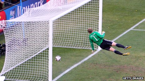 Frank Lampard's disallowed goal at 2010 World Cup