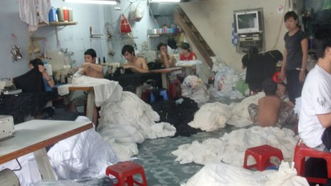 Conditions for children held against their will in textile sweat shops can be dangerous and unhealthy