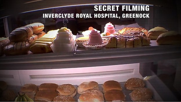 Secret filming - Inverclyde Royal Hospital, Greenock