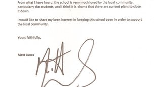 Matt Lucas's letter