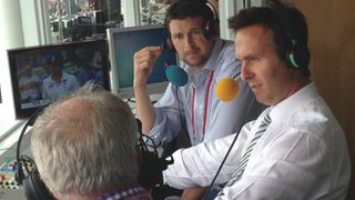 Steve Harmison and Michael Vaughan