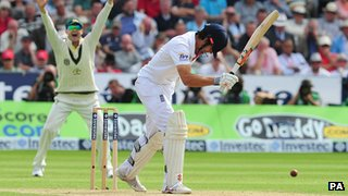 Alastair Cook is out lbw