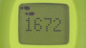 Pedometer screen
