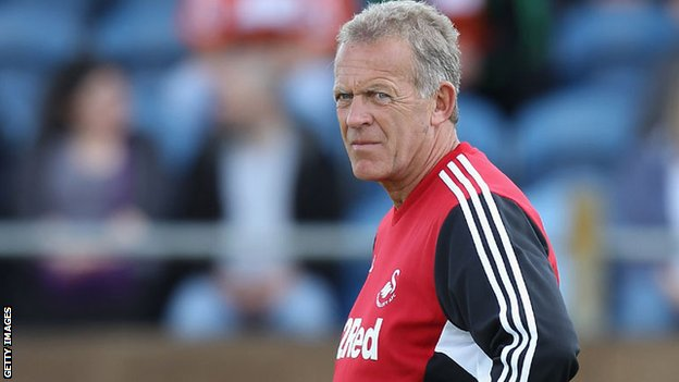 Swansea City coach Alan Curtis