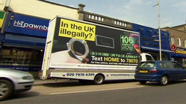 Illegal immigration van