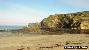 Portreath beach. Pic: Stuart Allenby