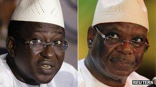 L: Soumaila Cisse R: Ibrahim Boubacar Keita