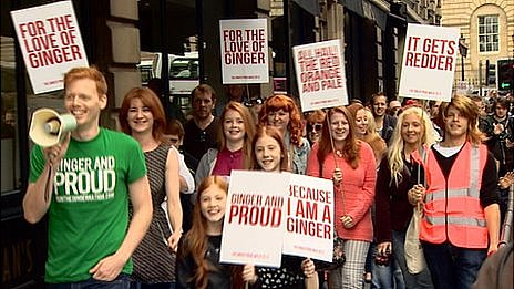 Marchers on Ginger Pride Walk