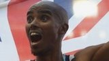 Mo Farah after winning 10,000m gold